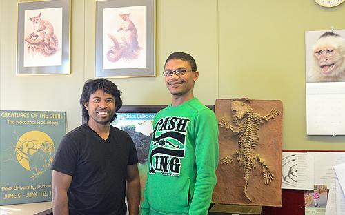 SASSB student prize winners, Haja Rambeloarivony and Curswan Andrews