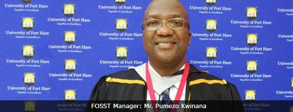 FOSST Manager: Mr. Pumezo Kwinana
